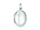 Sterling Silver Oval Locket style: QLS55