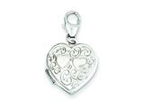 Sterling Silver 15mm Heart Locket style: QLS586
