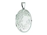 Sterling Silver Floral Locket style: QLS60