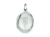 Sterling Silver Locket style: QLS62