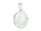 Sterling Silver Locket style: QLS64