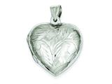 Sterling Silver Domed Heart Locket style: QLS74