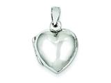 Sterling Silver Plain Domed Heart Locket style: QLS76