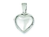 Sterling Silver Domed Heart Locket style: QLS77