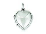 Sterling Silver Domed Heart Locket style: QLS78