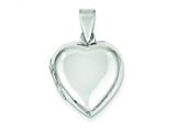 Sterling Silver Domed Heart Locket style: QLS79