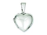 Sterling Silver Domed Heart Locket style: QLS80