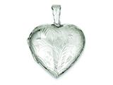 Sterling Silver Domed Heart Locket style: QLS81