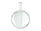 Sterling Silver 26mm Polished Locket style: QLS82