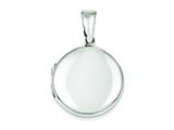 Sterling Silver 24mm Locket style: QLS83