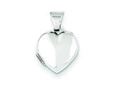 Sterling Silver Plain 10mm Heart Locket style: QLS88