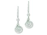 Sterling Silver and Cubic Zirconia Brilliant Embers Swirl Leverback Earrings style: QMP450