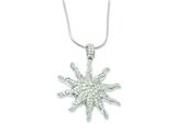 Sterling Silver and Cubic Zirconia Brilliant Embers Sun Necklace style: QMP460