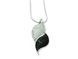 Sterling Silver and Cubic Zirconia Brilliant Embers Necklace style: QMP462
