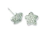 Sterling Silver and Cubic Zirconia Brilliant Embers Star Post Earrings style: QMP507
