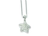 Sterling Silver and Cubic Zirconia Brilliant Embers Star Necklace style: QMP508