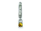 Sterling Silver Yellow Cubic Zirconia Pendant - Chain Included style: QP1064