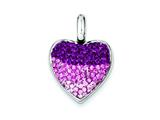 Sterling Silver Cubic Zirconia Ferido Style Heart Pendant - Chain Included style: QP1084