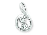 Sterling Silver Cubic Zirconia Pendant - Chain Included style: QP1117