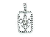 Sterling Silver Cubic Zirconia Fleur De Lis Pendant - Chain Included style: QP1145