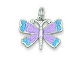 Sterling Silver Enamel Butterfly Charm style: QP1167