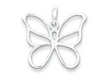 Sterling Silver Polished Butterfly Pendant - Chain Included style: QP1172