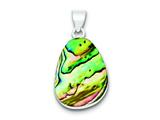 Sterling Silver Pear Shaped Abalone Pendant - Chain Included style: QP1315