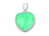 Sterling Silver Heart Turquoise Pendant - Chain Included style: QP1318