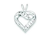 Sterling Silver Cubic Zirconia Heart Pendant - Chain Included style: QP1340