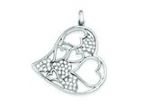 Sterling Silver Cubic Zirconia Pendant - Chain Included style: QP1382