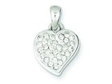 Sterling Silver Stellux Crystal Heart Pendant - Chain Included style: QP1394