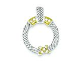 Sterling Silver Vermeil Stellux Crystal Pendant - Chain Included style: QP1441