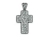 Sterling Silver Antiqued Swirl Cross Pendant - Chain Included style: QP1485