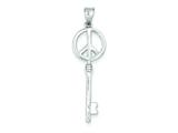 Sterling Silver Peace Sign Key Pendant - Chain Included style: QP1529
