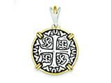 Sterling Silver and Vermeil Chinese Symbols Pendant - Chain Included style: QP1759