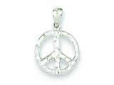 Sterling Silver Peace Pendant - Chain Included style: QP1764