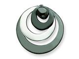 Sterling Silver and Rhodium Polished Circle Pendant - Chain Included style: QP1813