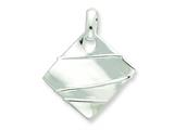 Sterling Silver Polished and Textured Fancy Pendant - Chain Included style: QP1815