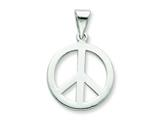 Sterling Silver Polished Small Peace Sign Pendant - Chain Included style: QP1817