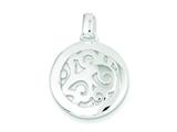Sterling Silver Round Swirl Charm style: QP184