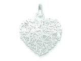 Sterling Silver Polished Puffed Heart Pendant - Chain Included style: QP1883