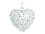 Sterling Silver Polished Puffed Heart Pendant - Chain Included style: QP1884