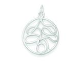 Sterling Silver Round Polished Fancy Pendant - Chain Included style: QP1923