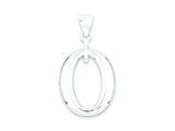 Sterling Silver Polished Round Pendant - Chain Included style: QP1932