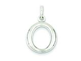 Sterling Silver Round Polished Pendant - Chain Included style: QP1933