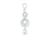 Sterling Silver Cubic Zirconia Pendant - Chain Included style: QP1947
