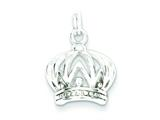 Sterling Silver Polished Crown Charm style: QP1950
