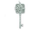 Sterling Silver Cubic Zirconia Square Key Locket style: QP2036
