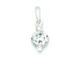 Sterling Silver Polished Cubic Zirconia Fancy Pendant - Chain Included style: QP2131