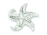 Sterling Silver Stellux Crystal and White Star Pendant - Chain Included style: QP2470